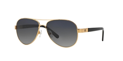 TORY BURCH TY6010 (57) style-color 106/T3 Gold / Grey Polarized