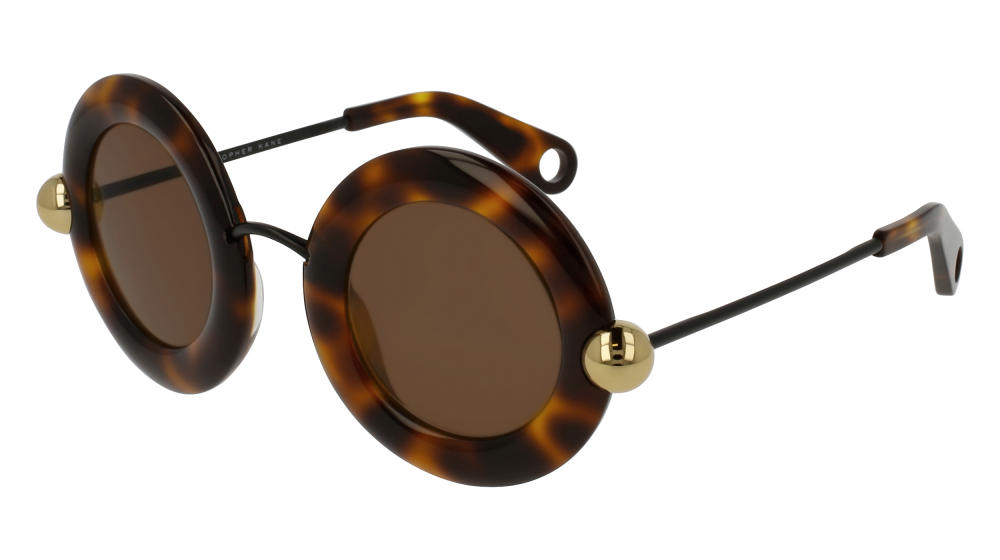 CHRISTOPHER KANE CK0005S style-color Havana/BLACK 002 / BROWN Lens