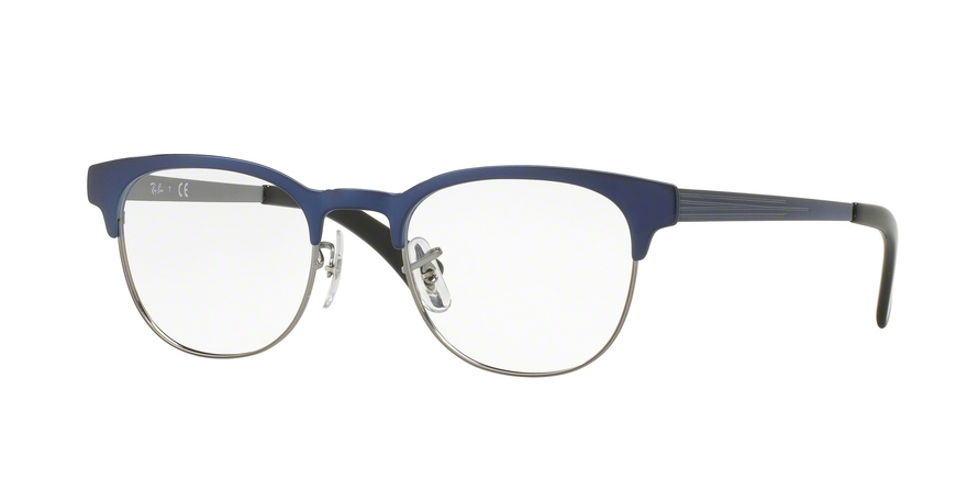 RAY-BAN RX6317 style-color 2863 Top Brushed Blue ON Gunmetal