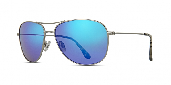 MAUI JIM CLIFF HOUSE style-color B247-17  Silver / Blue hawaii mauipure