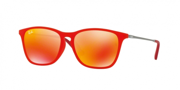 RAY-BAN RJ9061SF ASIAN FIT style-color 70106Q Red Fluo Trasparent Rubber