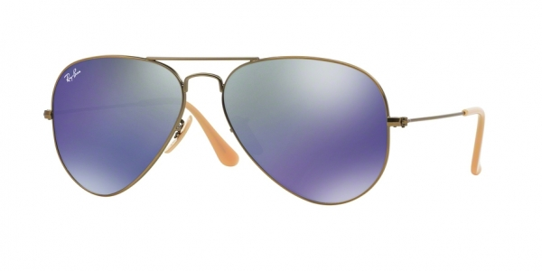 RAY-BAN RB3025 AVIATOR LARGE METAL style-color 167/68 Demiglos Brusched Bronze