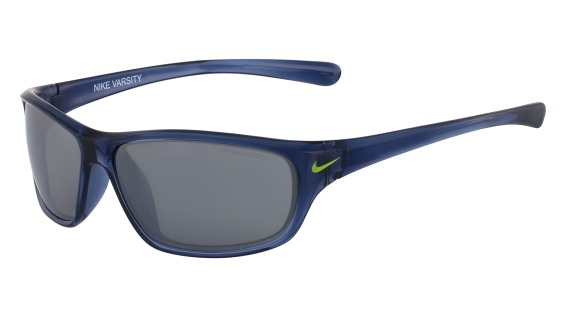 NIKE VARSITY EV0821 style-color (407) Crystal Gym Blue / Volt With Grey W / Silver Flash Lens