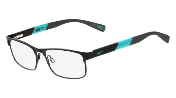 NIKE 5574 style-color (018) Satin Black - Hyper Jade