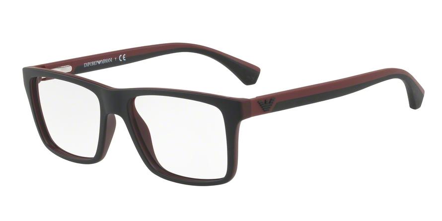 EMPORIO ARMANI EA3034 style-color 5614 Top Black ON Bordeaux Rubber