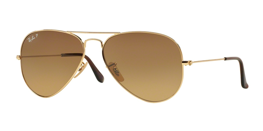 RAY-BAN RB3025 AVIATOR LARGE METAL style-color 001/M2 Shiny Gold