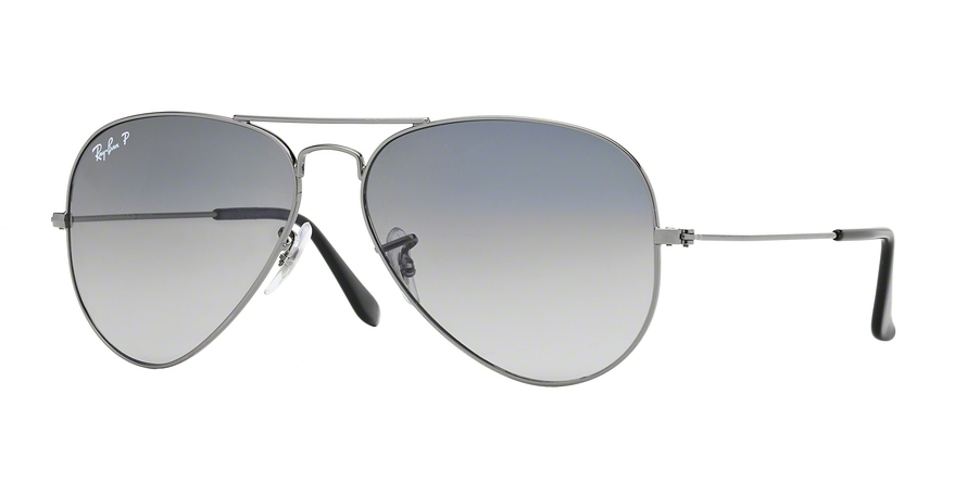 RAY-BAN RB3025 AVIATOR LARGE METAL style-color 004/78 Gunmetal