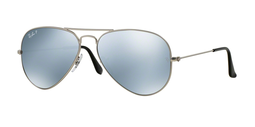 RAY-BAN RB3025 AVIATOR LARGE METAL style-color 019/W3 Matte Silver