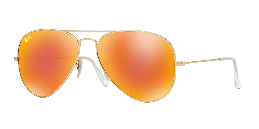 RAY-BAN RB3025 AVIATOR LARGE METAL style-color 112/69 Matte Gold
