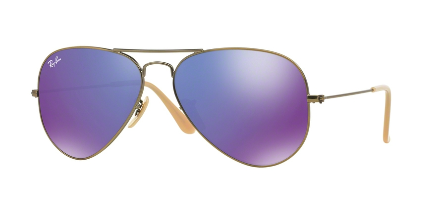 RAY-BAN RB3025 AVIATOR LARGE METAL style-color 167/1M Brushed Bronze Demi Shiny
