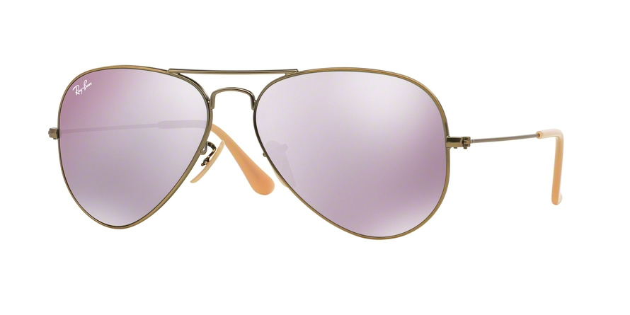 RAY-BAN RB3025 AVIATOR LARGE METAL style-color 167/4K Demiglos Brusched Bronze
