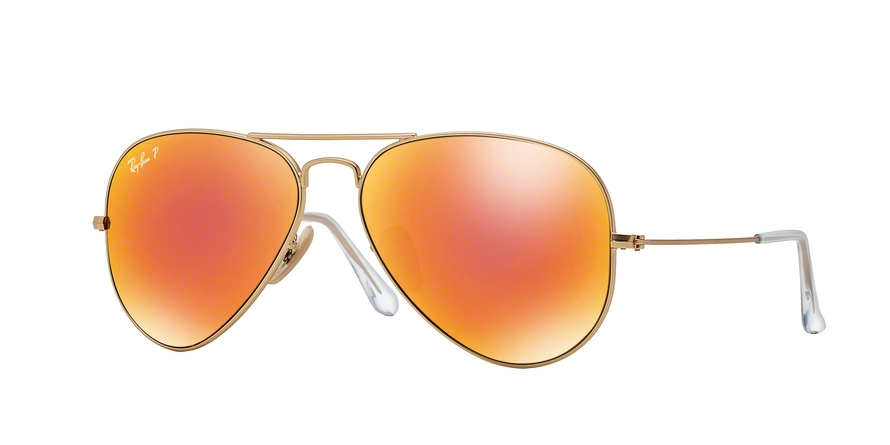 RAY-BAN RB3025 AVIATOR LARGE METAL style-color 112/4D Matte Gold