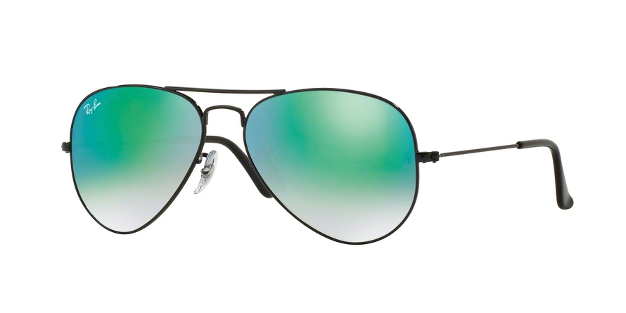 RAY-BAN RB3025 AVIATOR LARGE METAL style-color 002/4J Shiny Black