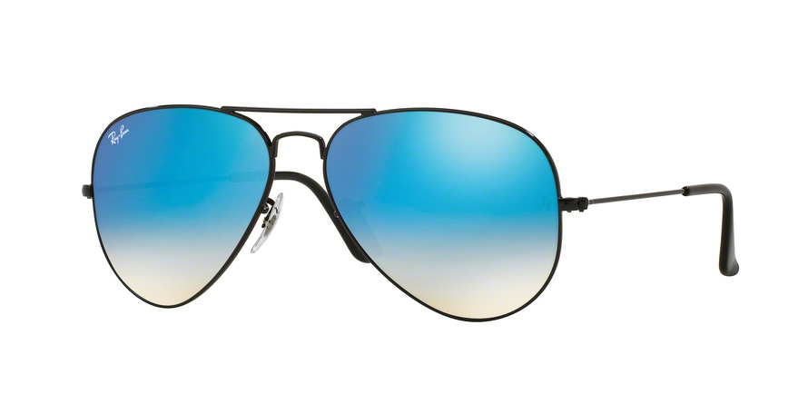 RAY-BAN RB3025 AVIATOR LARGE METAL style-color 002/4O Shiny Black