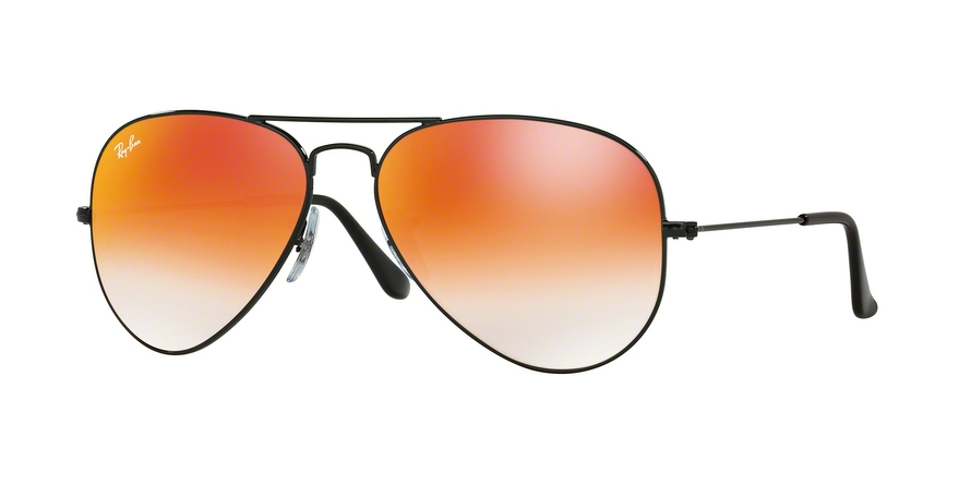 RAY-BAN RB3025 AVIATOR LARGE METAL style-color 002/4W Shiny Black