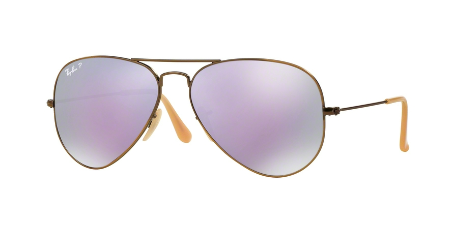 RAY-BAN RB3025 AVIATOR LARGE METAL style-color 167/1R Brushed Bronze Demishiny