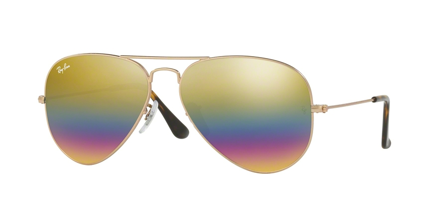 RAY-BAN RB3025 AVIATOR LARGE METAL style-color 9020C4 Metallic Light Bronze