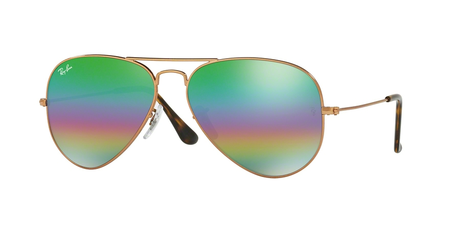 RAY-BAN RB3025 AVIATOR LARGE METAL style-color 9018C3 Metlallic Medium Bronze