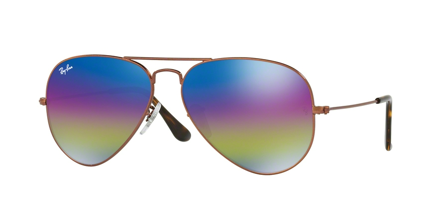 RAY-BAN RB3025 AVIATOR LARGE METAL style-color 9019C2 Metallic Dark Bronze