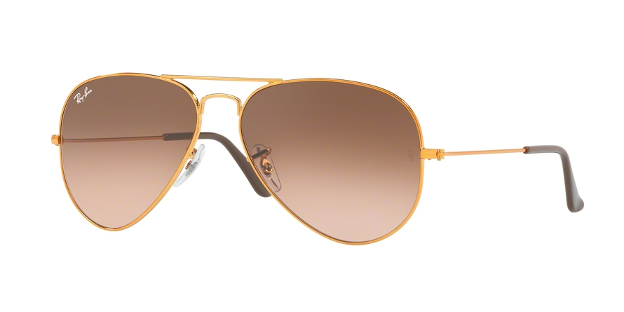 RAY-BAN RB3025 AVIATOR LARGE METAL style-color 9001A5 Shiny Light Bronze