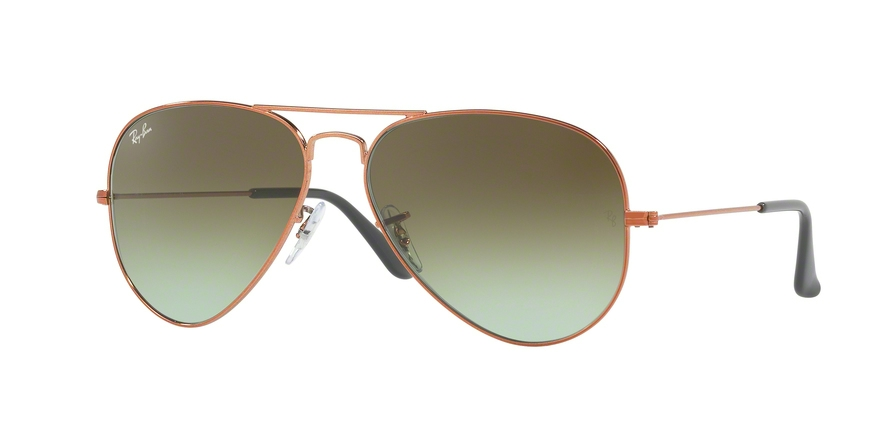 RAY-BAN RB3025 AVIATOR LARGE METAL style-color 9002A6 Shiny Medium Bronze