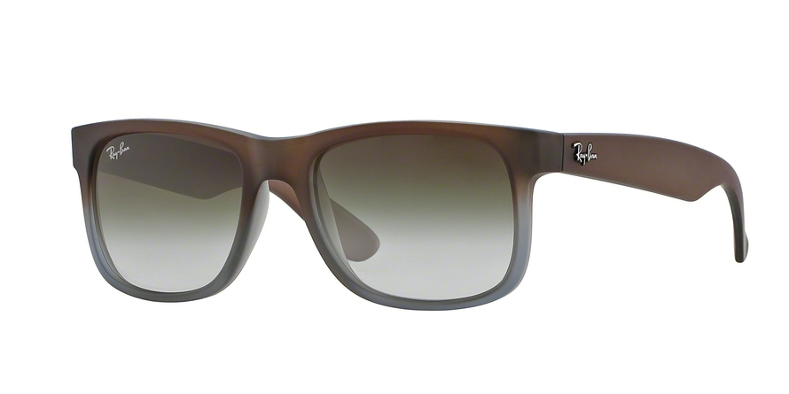 RAY-BAN RB4165 JUSTIN style-color 854/7Z Rubber Brown ON Grey