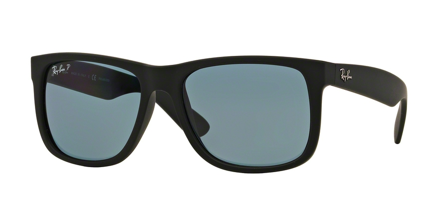 RAY-BAN RB4165 JUSTIN style-color 622/2V Black Rubber