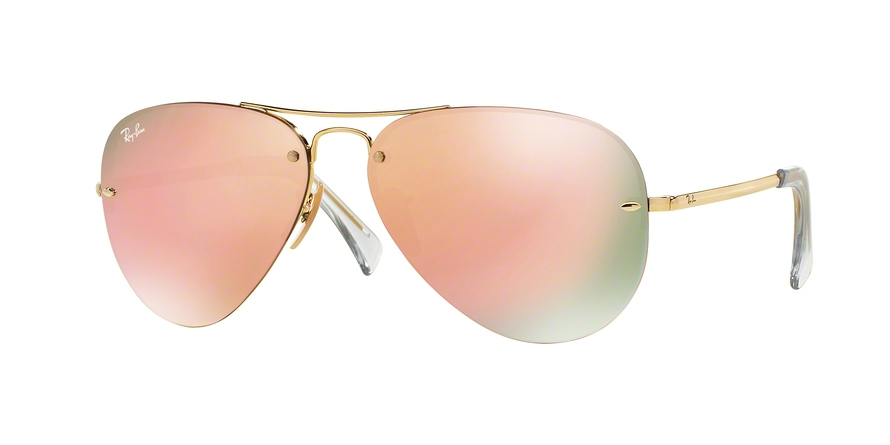RAY-BAN RB3449 style-color 001/2Y Gold