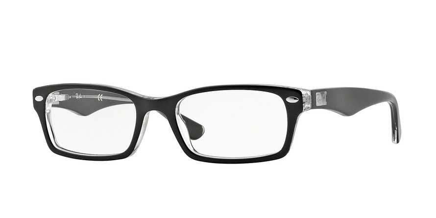 RAY-BAN RX5206 style-color 2034 Top Black ON Transparent