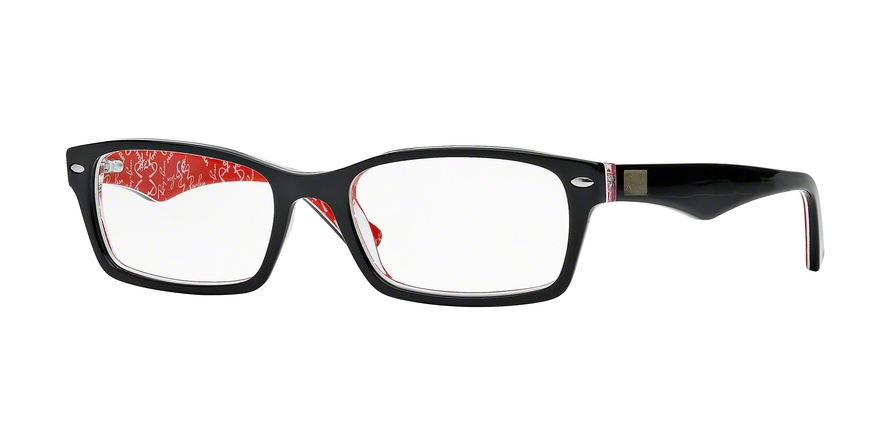 RAY-BAN RX5206 style-color 2479 Top Black ON Texture Red