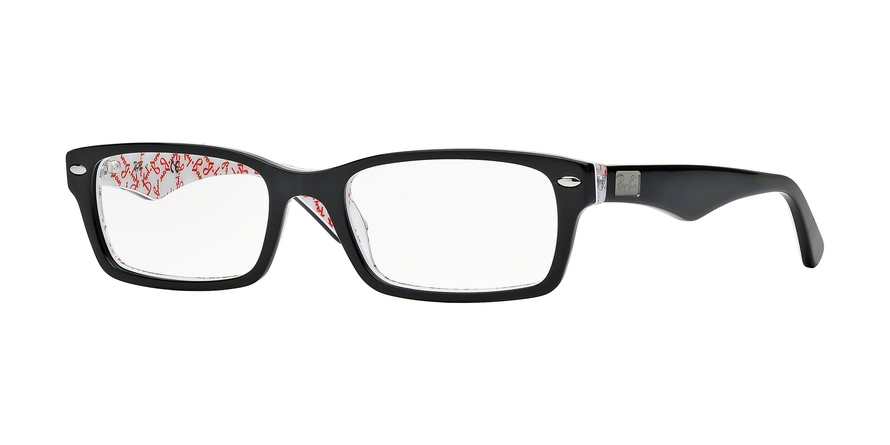 RAY-BAN RX5206 style-color 5014 Top Black ON Texture White