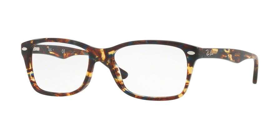 RAY-BAN RX5228 style-color 5711 Spotted Blu / Brown / Yellow