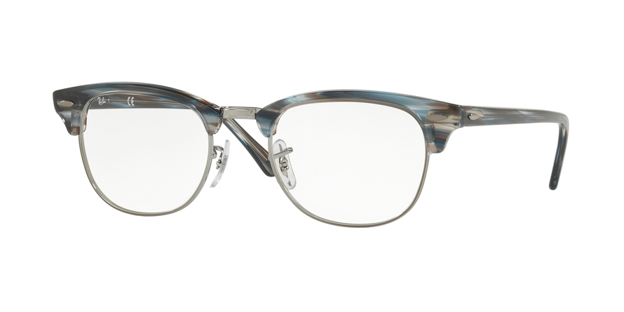 RAY-BAN RX5154 CLUBMASTER style-color 5750 Blue / Grey Stripped