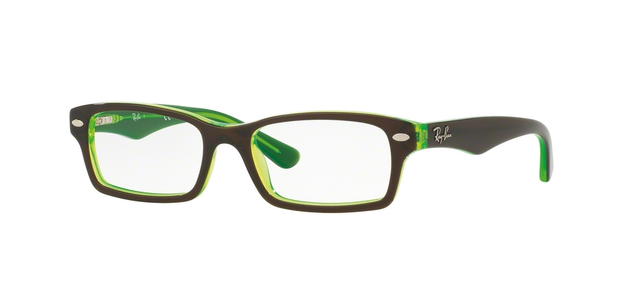 RAY-BAN RY1530 style-color 3665 Top Brown ON Green Fluo