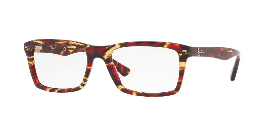 RAY-BAN RX5287 style-color 5710 Spotted Red / Brown / Yellow