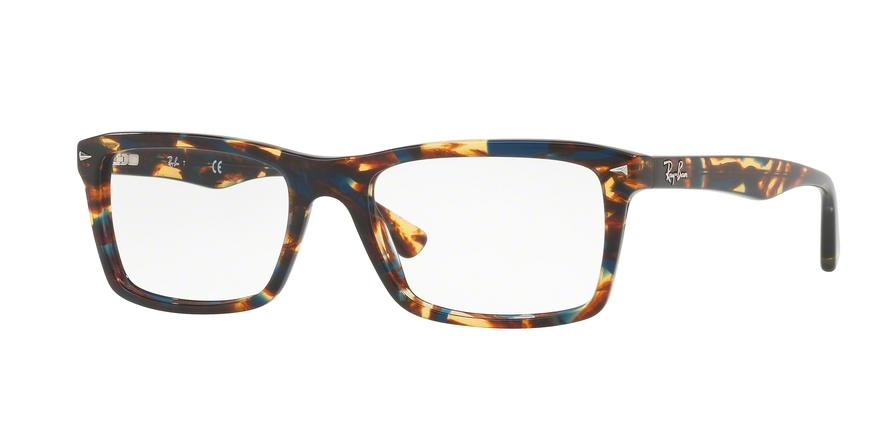RAY-BAN RX5287 style-color 5711 Spotted Blue / Brown / Yellow