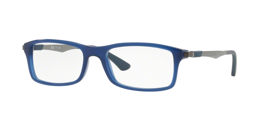RAY-BAN RX7017 style-color 5752 Trasparent Blue