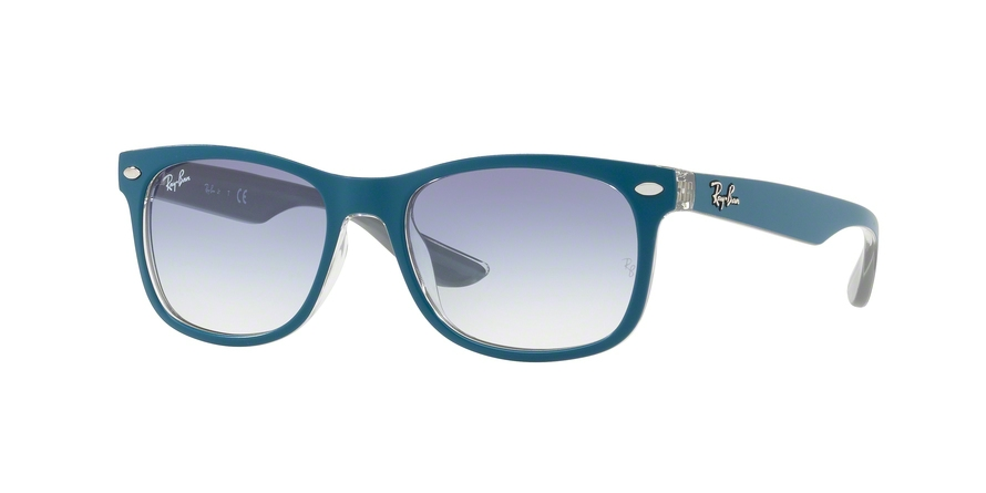 RAY-BAN RJ9052S JUNIOR NEW WAYFARER style-color 703419 Top Matte Torquoise ON Grey