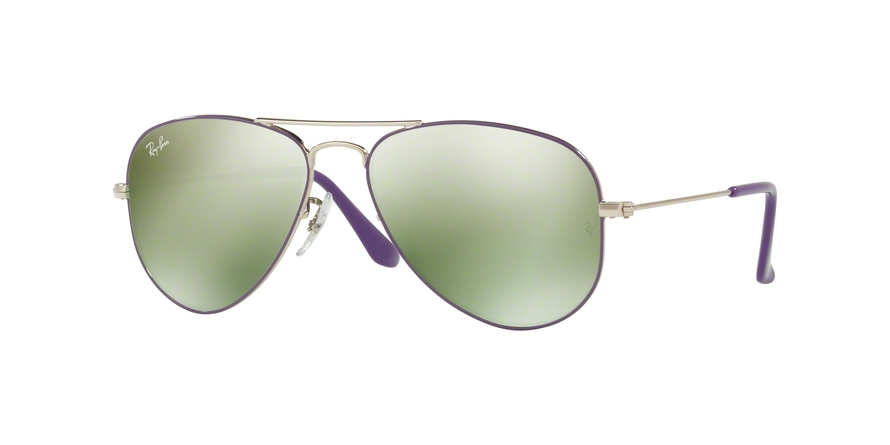 RAY-BAN RJ9506S JUNIOR AVIATOR style-color 262/30 Silver Top ON Violet