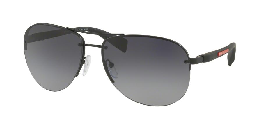 PRADA LINEA ROSSA PS 56MS (65) style-color DG05W1 Black Rubber