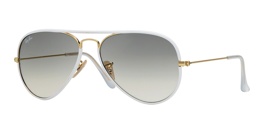RAY-BAN RB3025JM AVIATOR FULL COLOR style-color 146/32 Shiny Gold