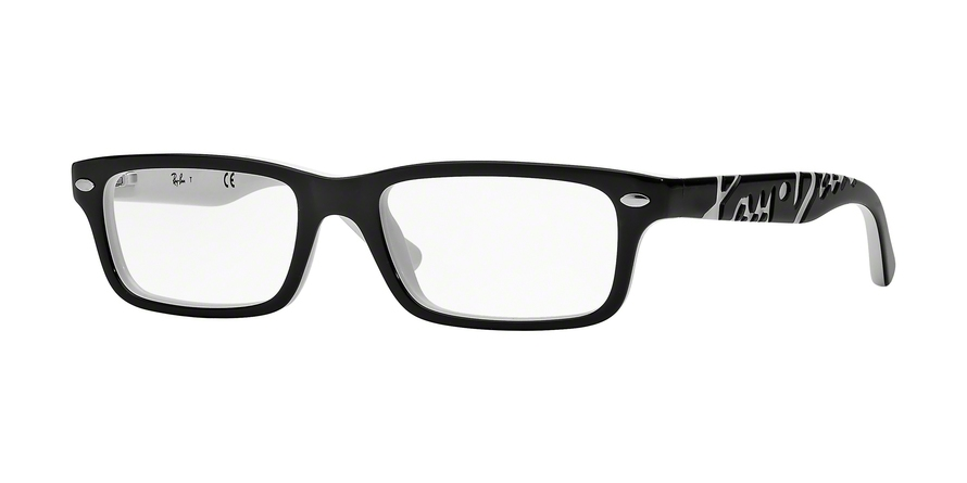 RAY-BAN RY1535 style-color 3579 Top Black ON White