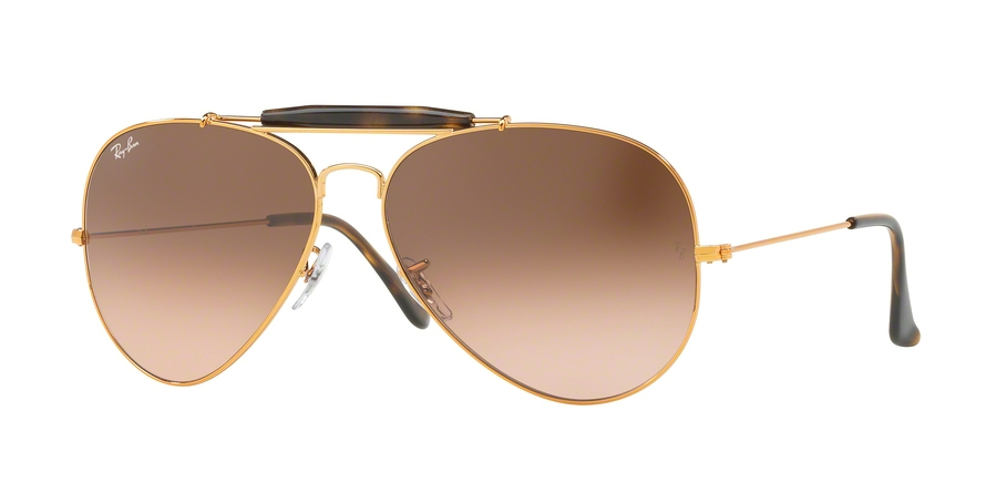 RAY-BAN RB3029 OUTDOORSMAN II style-color 9001A5 Shiny Light Bronze