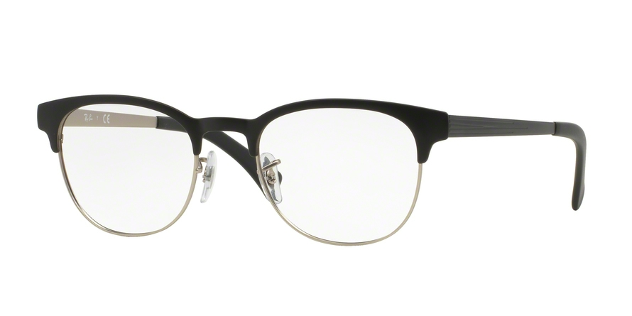 RAY-BAN RX6317 style-color 2832 Top Black ON Matte Silver