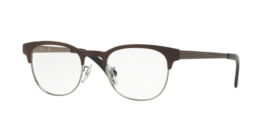 RAY-BAN RX6317 style-color 2862 Gunmetal ON Top Brushed Brown