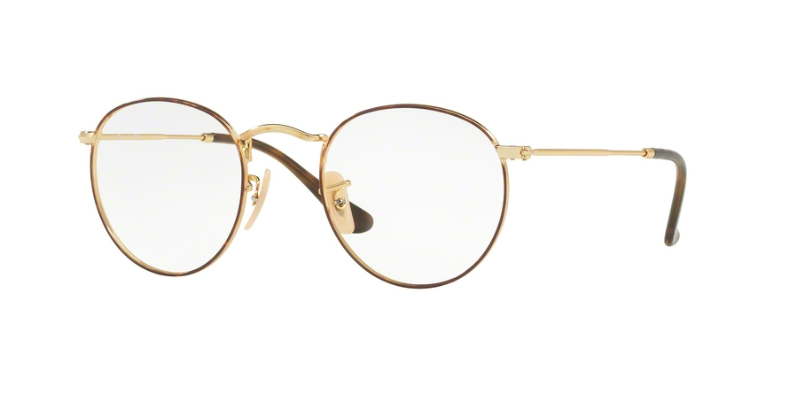 RAY-BAN RX3447V ROUND METAL style-color 2945 Gold ON Top Havana