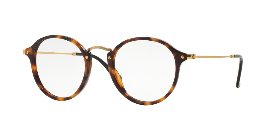 RAY-BAN RX2447V ROUND style-color 5494 Brown Havana
