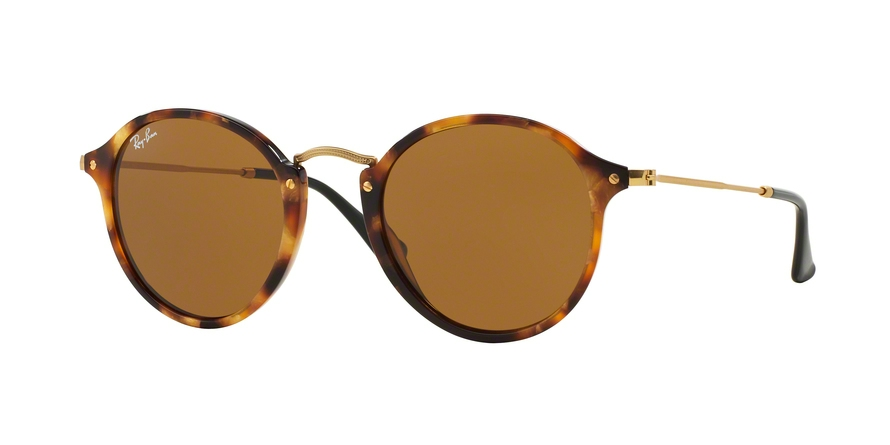 RAY-BAN RB2447 ROUND/CLASSIC style-color 1160 Spotted Brown Havana