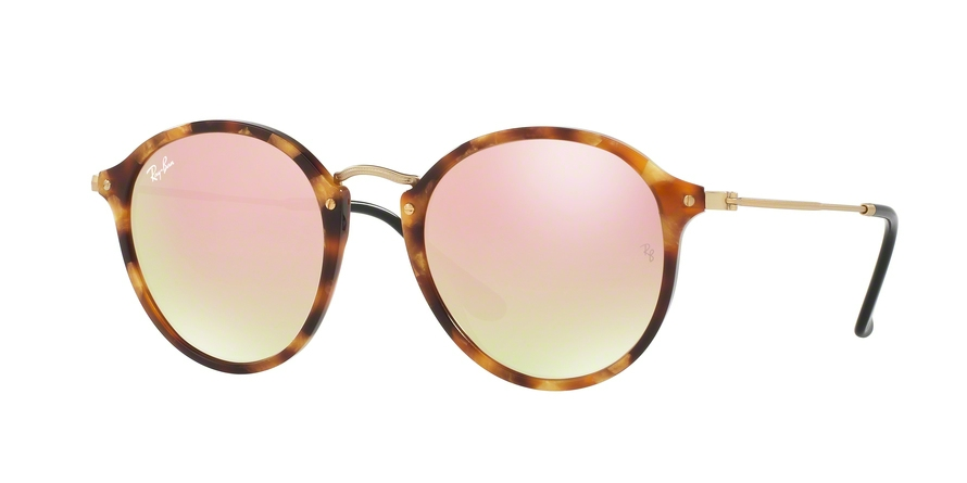 RAY-BAN RB2447 ROUND/CLASSIC style-color 11607O Spotted Brown Havana