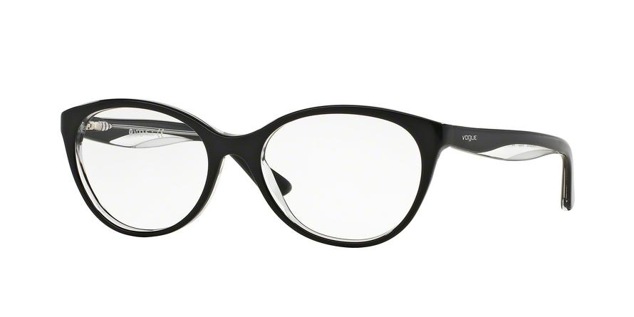VOGUE VO2962 style-color W827 Top Black / Transparent